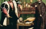 """La pintura de hans Гольбейна Menor """"Embajadores"""", donde un extraño objeto en el primer plano con un determinado ángulo de visión se convierte en el cráneo. Traducido del servicio de «Yandex.Traductor»"""