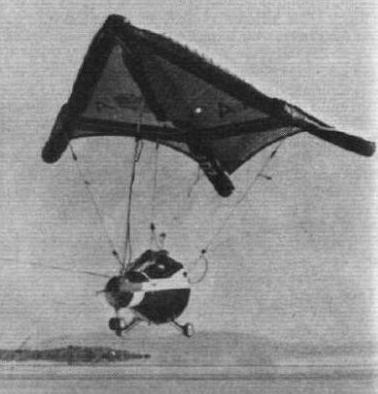 Параплан Gemini во время испытаний набазе ВВС Эдвардсв августе 1964 года.
