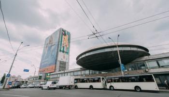 Украинский институтнаучно-технической экспертизы и информации (УкрИНТЭИ), конференц-зал которого построен в виде летающей тарелки.  ФОТО ПОКАЗАНО С :KIEVVLAST.COM.UA