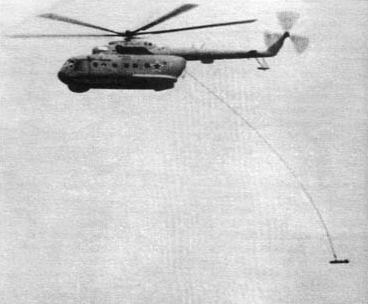 Ми-14ПЛ во время магнитометрического поиска подлодки