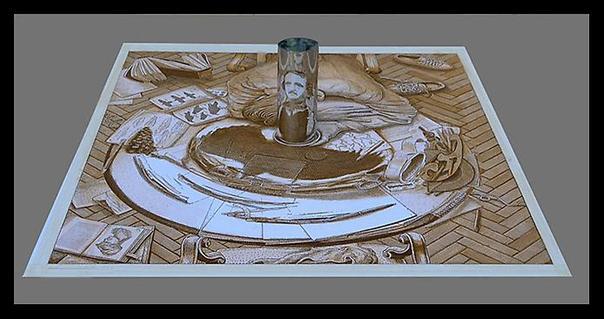 Checo artista gráfico y pintor de multiplicación istván oros. Dibujo con el retrato De edgar allan poe. El trabajo con el espejo cilíndrico. Traducido del servicio de «Yandex.Traductor»