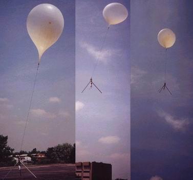 Запуск метеозонда.